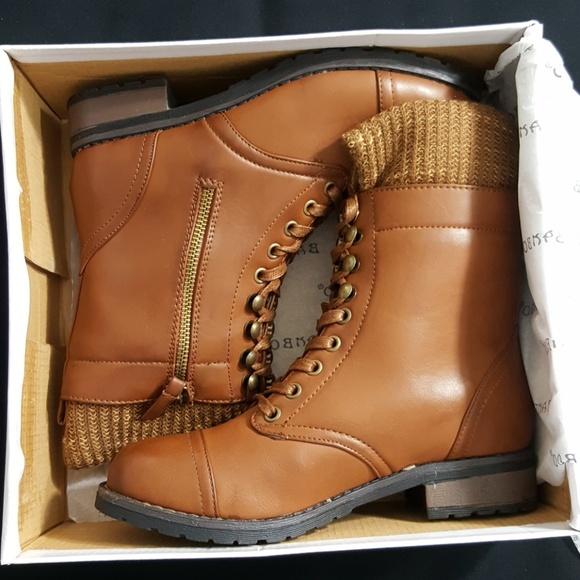 Bamboo Shoes Battle24 Sweater Cuff Combat Boots Poshmark